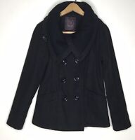 DOLLHOUSE Outerwear NYC Womens Ladies Jacket Coat Size Small Black Lined Buttons