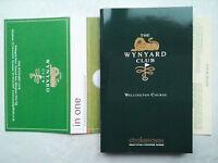 THE WYNYARD CLUB.WELLINGTON COURSE GOLF GUIDE + SCORE CARD.TEESSIDE.2007 SIMAG