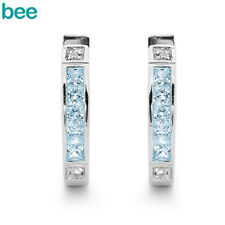 New Classic Huggie - Blue Topaz S/S Bt 925 Sterling Silver Earrings