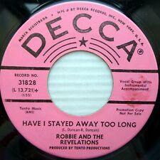 ROBBIE & REVELATIONS promo 45 Have I Stayed Away Too Long bluebirds mountain F97
