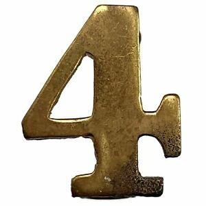 4th Territorial Battalion 4 Insignia Number Shoulder Title Badge 20mm - WF02
