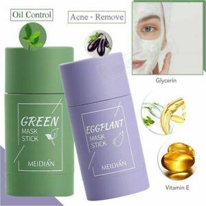 Green Tea Purifying Clay Stick Mask Oil Control Anti-Acne Eggplant Fine Solid cg