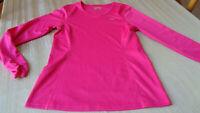 KOPPEN Women Pink Activewear T-Shirt - MEDIUM - LONG SLEEVE -VNECK