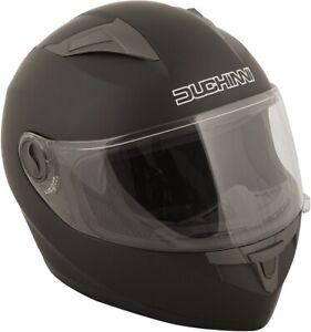 Duchinni D705 Matt Black Motorcycle Helmet Crash Lid Scooter Motorbike Safety