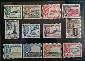 BRITISH VIRGIN ISLANDS 1952 KGVI 1c to $4.8 SG 136 - 147 Sc 102 - 113 set 12 MNH