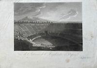 Pompeji Antike Theatre Amphitheater Anfiteatro Rom P. Fumagalli Aquatinta 1830