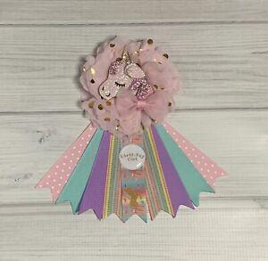 Unicorn Birthday Corsage Pin ,Unicorn Birthday Badge ,Birthday Pin