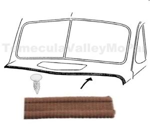 Hood-to-Cowl Lacing w/ Nails for 1930-1956 Plymouth & Dodge Trucks
