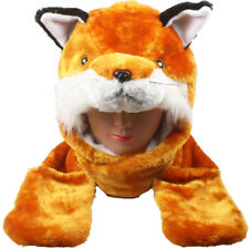 Plush Fleece Animal Hat RED FOX with Mittens cute warm winter gift USA