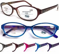 L374 Superb Quality Graceful Womens Reading Glasses/Spring Hinges/Retro Pattern*