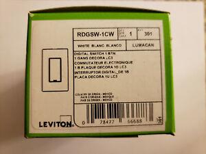 BRAND NEW Leviton RDGSW-1CW Digital 1 Button Decora Switch