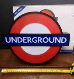 LONDON UNDERGROUND SIGN LIGHT BOX UP LED USB GIFT FOR HIM HER FOOTBALL NAME