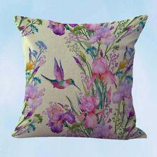 US Seller- hummingbird flower cushion cover wholesale decorative pillows