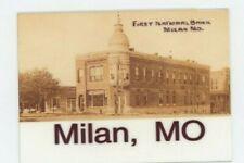 Milan Missouri First National Banl - METAL fridge magnet - Sullivan County
