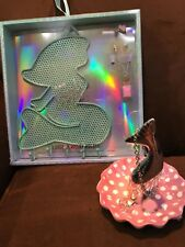 "JUSTICE ""I LOVE MERMAIDS "" JEWELRY & IRIDESCENT SHIMMER DISPLAY/TRINKET HOLDER!!"