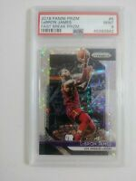 2018 Panini Prizm #6 LeBRON JAMES Fast Break Disco Lakers PSA 9