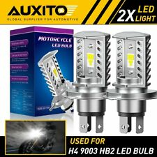2X AUXITO 9003 H4 HB2 6500K LED Motorcycle Headlight High Low Beam White EOA