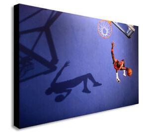 MICHAEL JORDAN BASKETBALL  Canvas Wall Art Framed Print. Various Sizes