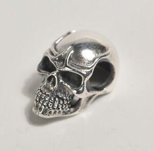 Silver 925 Skull Pendant Charm Steam Punk Gothic Bead