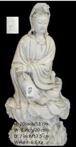 Chinese Antique Blanc de Chine Dehua Guanyin 何朝宗