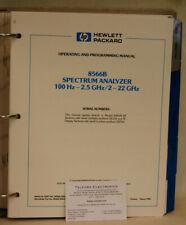 HP 8566B Spectrum Analyzer 100Hz-2.5GHz/2-22GHz Operating & Programming Guide