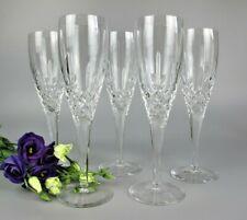 More details for superb set 5 x royal doulton cut lead crystal glass dorchester champagne flutes.
