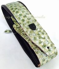 "Genuine Leather Soft Padded Supreme ""THE METALLIC ANACONDA"" Guitar Strap"