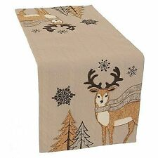 Manor Luxe Cozy Reindeer Christmas Table Runner 13 X 36 Free2dayship Taxfree