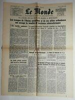 N756 La Une Du Journal Le Monde 22 août 1968 union soviétique allié orthodoxe