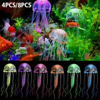 8PCS Jellyfish Aquarium Decoration Artificial Glowing Effect Fish Tank Ornament