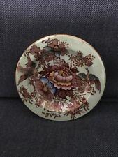 Maling Small Dish On Dish Pheasant Green Pattern 6549