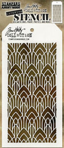 Tim Holtz Stampers Anonymous Layering Stencil Deco Arch THS147  new