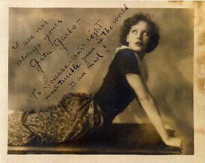 GRETA GARBO Signed Photograph - Film Star Actress - preprint