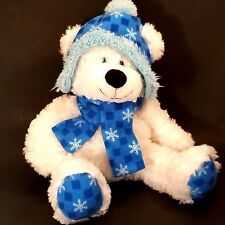 Hugfun Plush Christmas Winter Bear Teddy Stuffed Animal