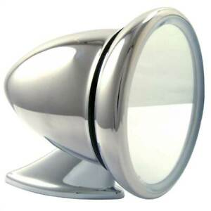 Racetech Classic Race Car Mirror, Bullet Style, Polished Stainless, Convex Glass