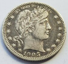 More details for *scarce* usa 1905 s mint vf barber quarter silver dollar coin
