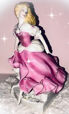 "Franklin Mint Cinderella Porcelain Figurine Neubacher B14Rb49 10"" Tall 24K Accen"
