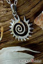 Sonnen Spirale, Ketten-Anhänger, Sterling Silber 925