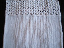 Premature/ Small Baby Lace Top First Baby Blanket Knitting Pattern - DK