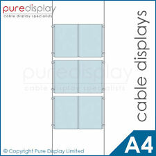 A4 Double Portrait 2x3 - Window Wire Cable Display