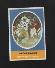 1972 SUNOCO STAMP CARL MAUCK SAN DIEGO CHARGERS