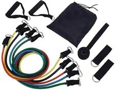 Resistance Exercise Bands Tubes Set Premium Grade FREE EXPRESS DELIVERY!