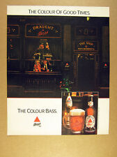 1989 The Ship london pub photo Bass Pale Ale beer vintage print Ad
