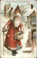 Christmas - Santa Claus HTL Hold to Light c1905 Postcard