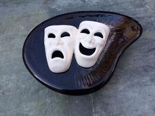 Vintage SARSAPARILLA Art Deco B & W Tragedy Comedy Covered Bowl Japan RARE
