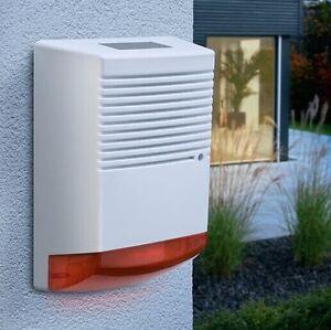 Dummy Burglar Alarm Bell Box - Solar Powered - Dummy Alarm Siren - Orange Lens