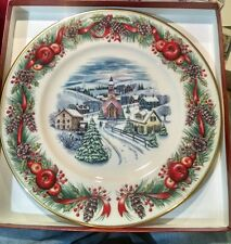 Lenox For The Holidays Plate 2000 Vintage Collectible Christmas Village New Rw4