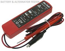 12V Volt DC Battery & Alternator Tester Checker 6 LED Car Van Garage