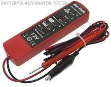 12V voltios DC batería y alternador Probador Checker 6 LED Coche Camioneta Garaje