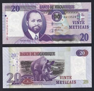 Mozambico 20 meticais 2006 FDS/UNC  B-02
